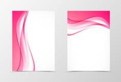 Designfliegerschablone der Front und der Rückseite dynamische lizenzfreie abbildung