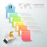 Designgeschäfts-Pfeil Begriffs-infographics Stockfotografie