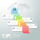 Designgeschäfts-Pfeil Begriffs-infographics Stockfotos