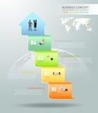 Designgeschäfts-Pfeil Begriffs-infographics Stockbilder