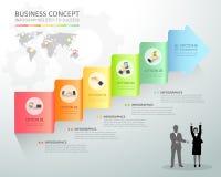 Designgeschäfts-Pfeil Begriffs-infographics Stockfoto