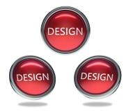 Designglasknopf stock abbildung