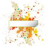 designgrungemålarfärg splatters mallen Royaltyfri Foto