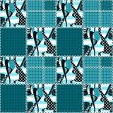 Designhintergrund des Musters des Patchworks nahtlose gestreifter Verzierung Lizenzfreies Stockbild