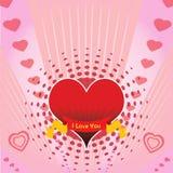 designhjärtaförälskelse Arkivfoto