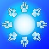 designhunden tafsar trycket stock illustrationer