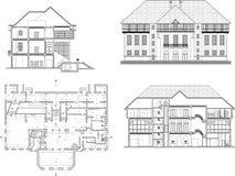 designhus vektor illustrationer