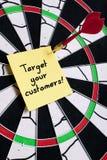 Designi i vostri clienti come bersaglio Fotografia Stock