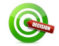 Designi un buon concetto come bersaglio di decisione Immagini Stock Libere da Diritti