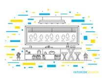 Designillustration des modernen Wohnzimmers Stockfotos