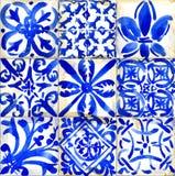 Designillustration för keramiska tegelplattor Geometrisk sömlös modell för vattenfärg royaltyfri illustrationer