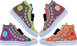 designillustrationen shoes sporten Royaltyfri Foto