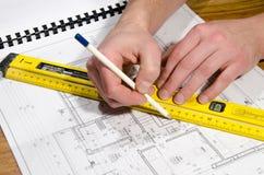 Designing a building Stock Photos