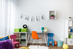 Designing a child's room is challenging Stock Photography