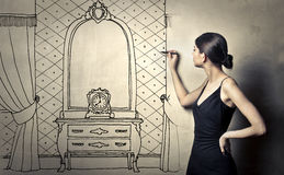 Designing furniture Stock Photo