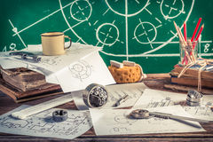 Designing mechanical parts at school Royalty Free Stock Photography