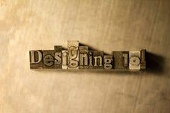 Designing 101 - Metal letterpress lettering sign Royalty Free Stock Photo
