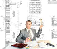 Designing technology in construction Stock Photo