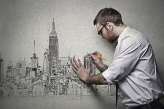 Designing on wall stock images