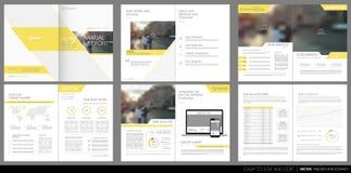 Designjahresbericht, Vektorschablonenbroschüren Stockfotos