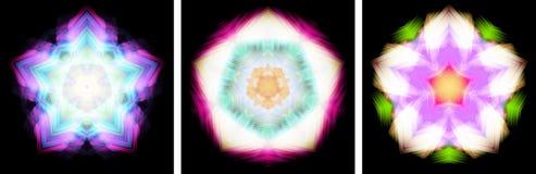 designkaleidoscopen formade stjärnan Arkivfoto