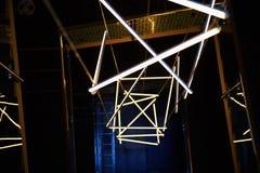 Designlösningen med lysrör kyler skugga abstraktion Arkivfoton