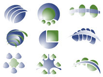 Designlogoelement stock illustrationer