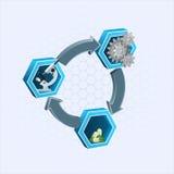 Designmall för bransch-/teknologibakgrund Royaltyfria Bilder