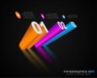 designmall för 3D Infographic med skuggor. Fotografering för Bildbyråer