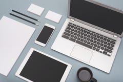 Designmall för företags identitet arkivbild