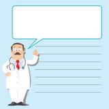 Designmall med den roliga doktorn stock illustrationer