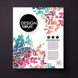 Designmall med en färgrik abstrakt modell Royaltyfri Foto