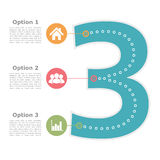 Designmall med tre alternativ Royaltyfria Bilder