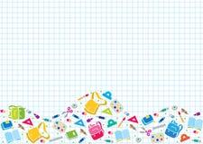 Designmall med utbildningstillförsel Arkivbild