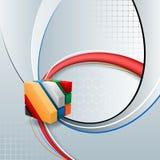 Designmallen för abstrakt teknologibakgrund med tre mått skära i tärningar planlagt konstnärligt Royaltyfria Foton