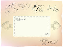 designmallrengöringsduk Arkivbild