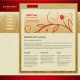 designmallwebsite Royaltyfri Bild