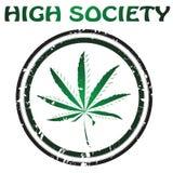 designmarijuana royaltyfri illustrationer