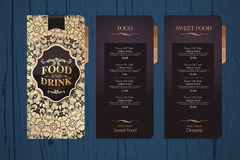Designmenü für Restaurants Stockbilder