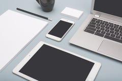 Designmodell för företags identitet Arkivfoton