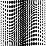 Designmonochrom punktiert Hintergrund Stockfoto
