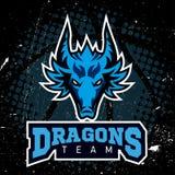 Designn баскетбола логотипа спорта дракона Стоковое фото RF
