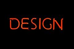 designneontecken Arkivbild