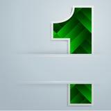 Designnummer eins-Hintergrund Stockfotos
