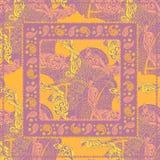 DesignPaisley sjalett Arkivbild