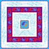 DesignPaisley sjalett blå palett Royaltyfri Bild