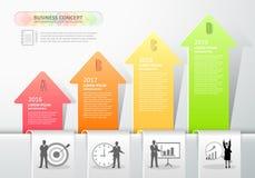 Designpfeile infographics 4 Schritte Auch im corel abgehobenen Betrag Stockfotos