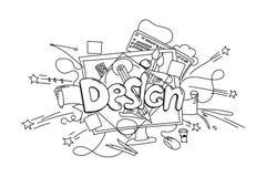 Designphrase Gezeichnete Illustration des Vektors Hand lokalisiert auf Weiß lizenzfreie abbildung