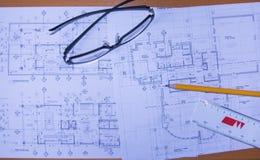 Designplan Arkivbild