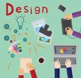 Designprozess lizenzfreie abbildung